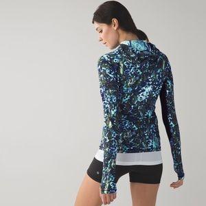 Lululemon Floral Sport Half Zip Workout Pullover